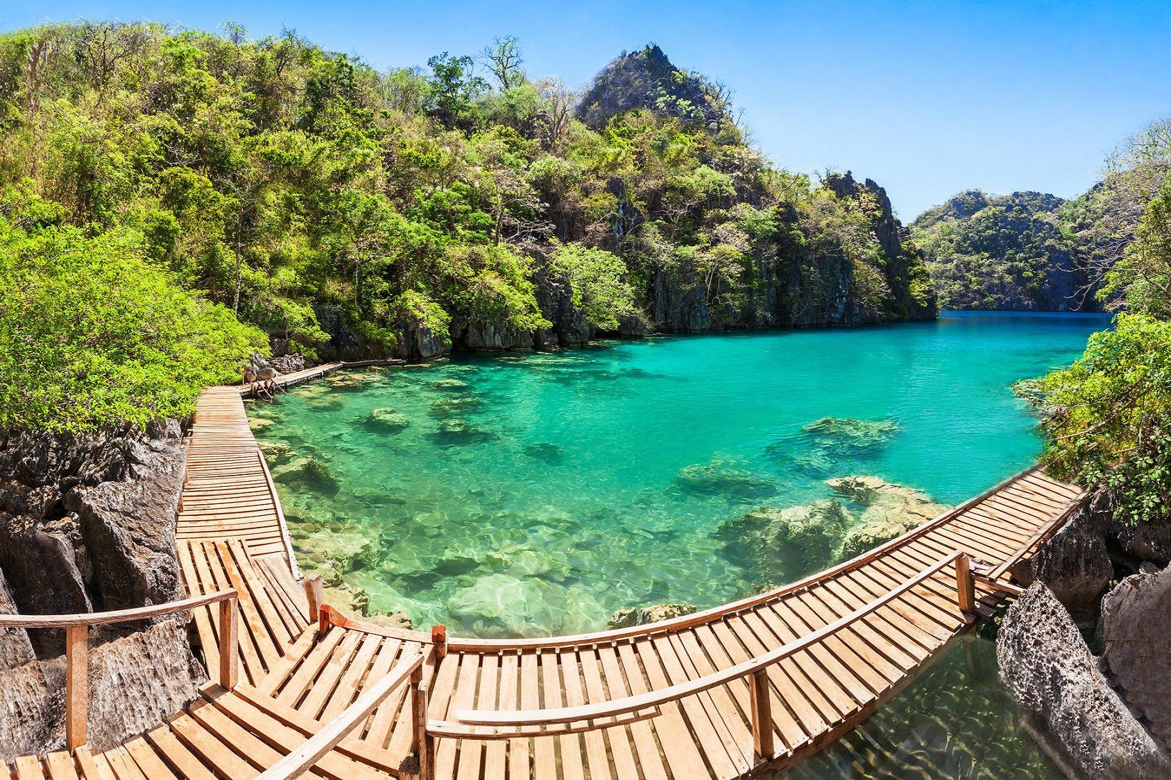 Lagoon lake, Kayangan Lake, Coron Island, Palawan